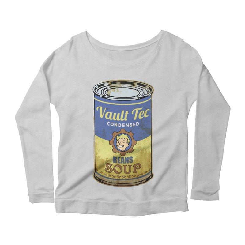 VAULT TEC BEANS SOUP  Women's Longsleeve Scoopneck  by karmadesigner's Tee Shirt Shop