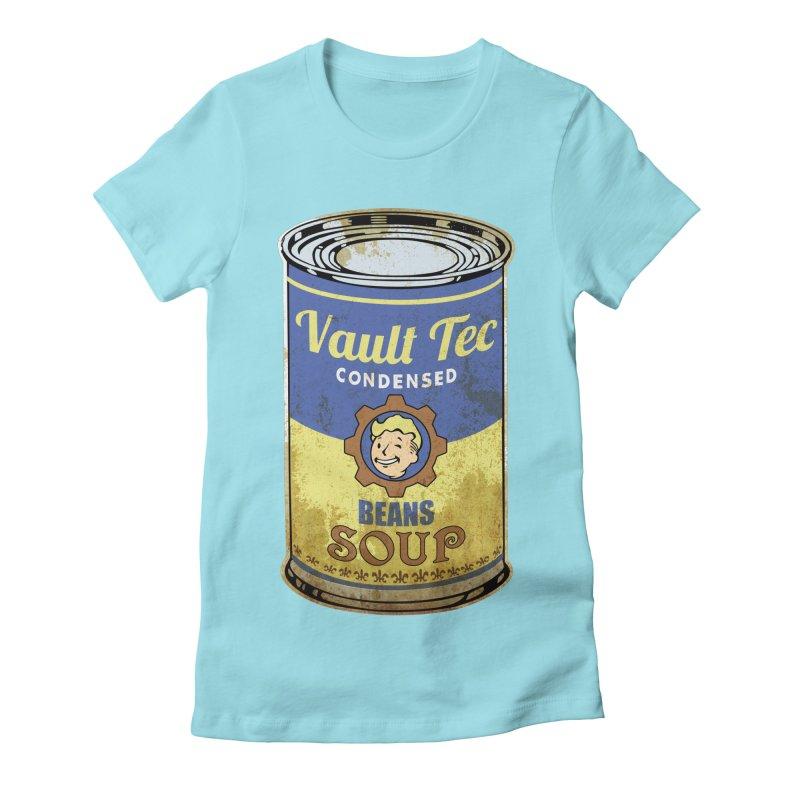 VAULT TEC BEANS SOUP  Women's Fitted T-Shirt by karmadesigner's Tee Shirt Shop