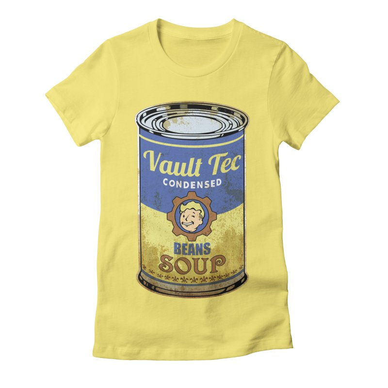 VAULT TEC BEANS SOUP  Women's Fitted T-Shirt by karmadesigner's Tee Shirt Shop