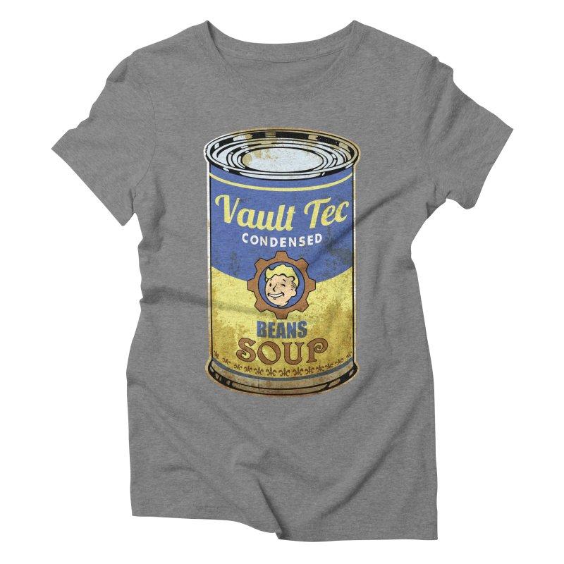 VAULT TEC BEANS SOUP  Women's Triblend T-shirt by karmadesigner's Tee Shirt Shop