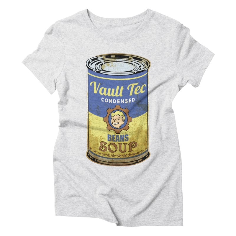 VAULT TEC BEANS SOUP  Women's Triblend T-Shirt by karmadesigner's Tee Shirt Shop