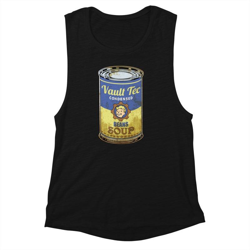 VAULT TEC BEANS SOUP  Women's Muscle Tank by karmadesigner's Tee Shirt Shop