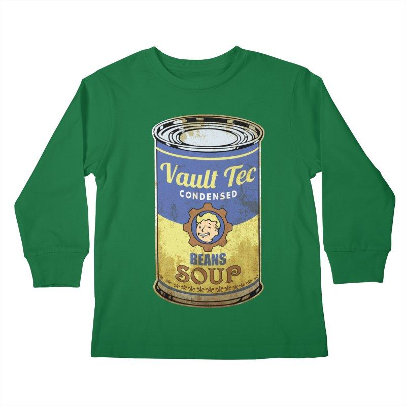 VAULT TEC BEANS SOUP  Kids Longsleeve T-Shirt by karmadesigner's Tee Shirt Shop
