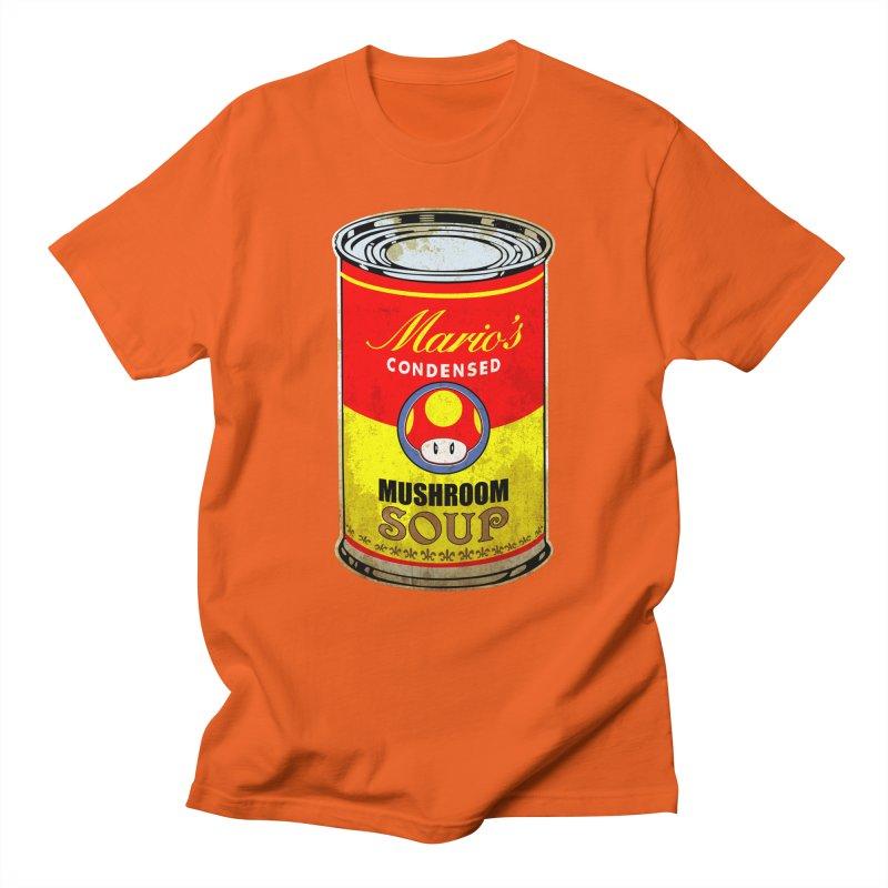 MUSHROOM SOUP Men's T-shirt by karmadesigner's Tee Shirt Shop