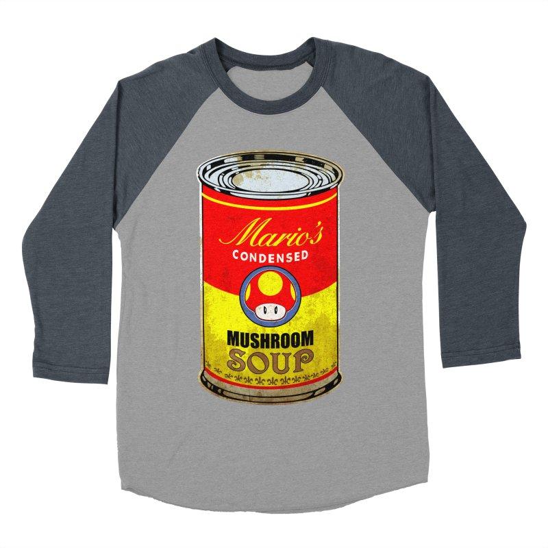 MUSHROOM SOUP Men's Baseball Triblend T-Shirt by karmadesigner's Tee Shirt Shop