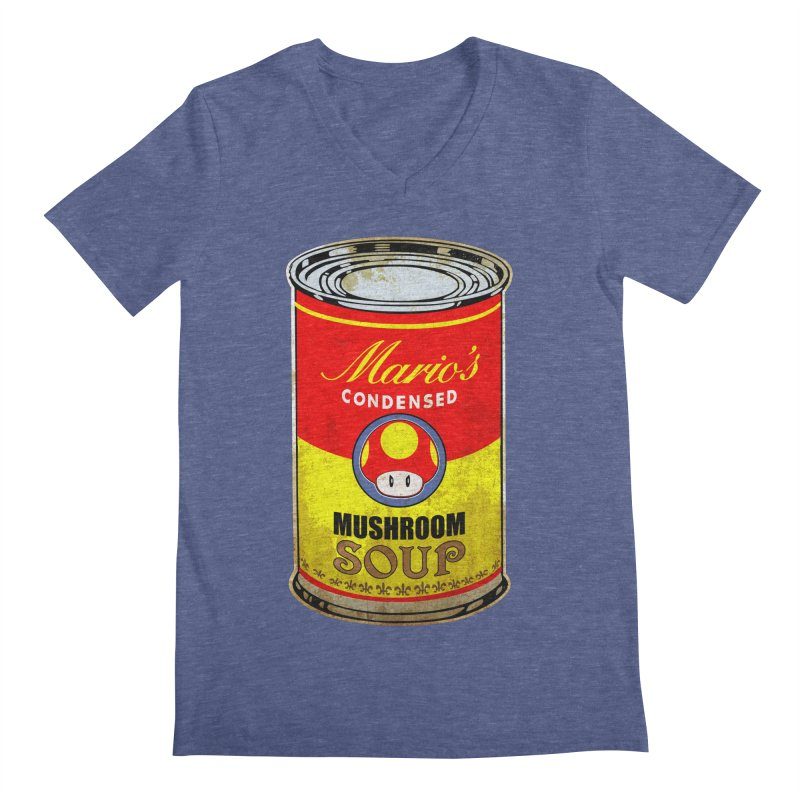 MUSHROOM SOUP Men's V-Neck by karmadesigner's Tee Shirt Shop