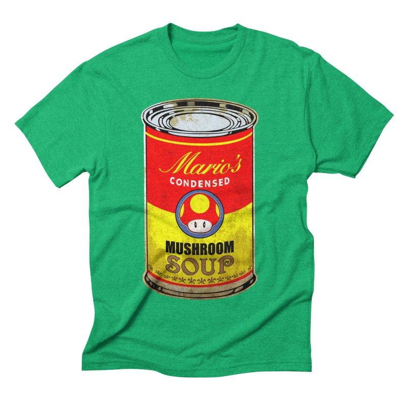 MUSHROOM SOUP Men's Triblend T-shirt by karmadesigner's Tee Shirt Shop