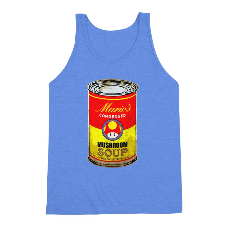 MUSHROOM SOUP Men's Triblend Tank by karmadesigner's Tee Shirt Shop