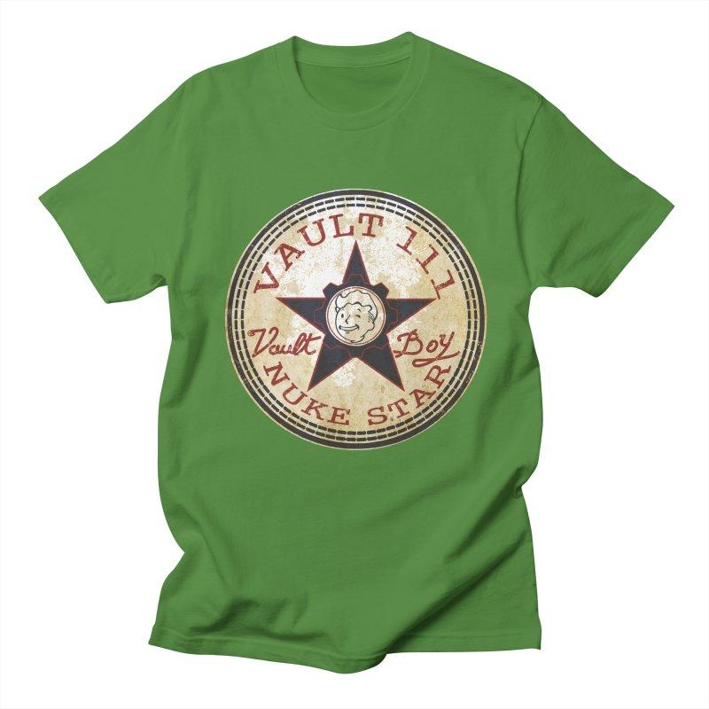 VAULT 111 NUKA STAR  Men's T-shirt by karmadesigner's Tee Shirt Shop