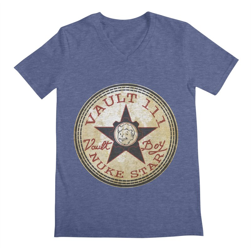 VAULT 111 NUKA STAR  Men's V-Neck by karmadesigner's Tee Shirt Shop