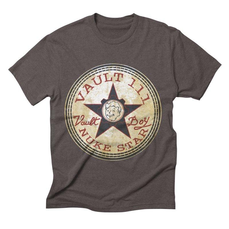 VAULT 111 NUKA STAR  Men's Triblend T-shirt by karmadesigner's Tee Shirt Shop