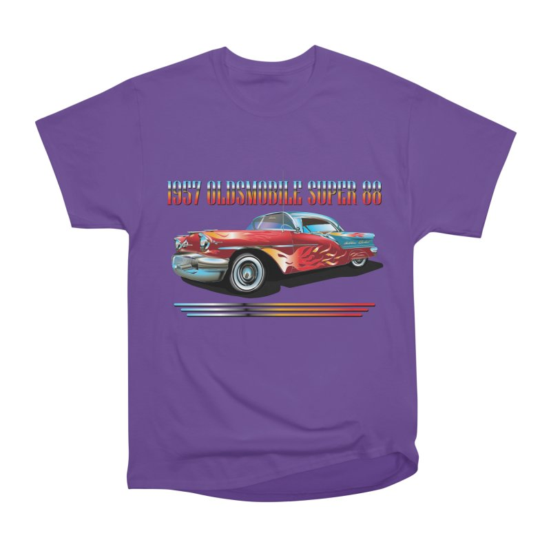 1957OLDSMOBILE SUPER 88 Women's Heavyweight Unisex T-Shirt by karmadesigner's Tee Shirt Shop