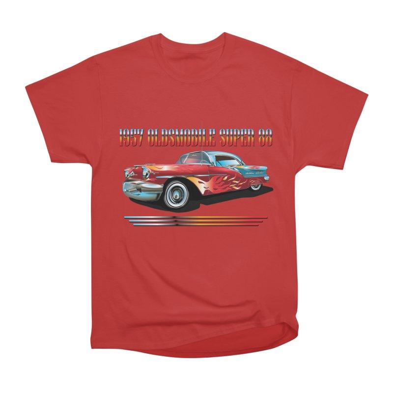 1957OLDSMOBILE SUPER 88 Women's Heavyweight Unisex T-Shirt by karmadesigner's Tee Shirt Shop