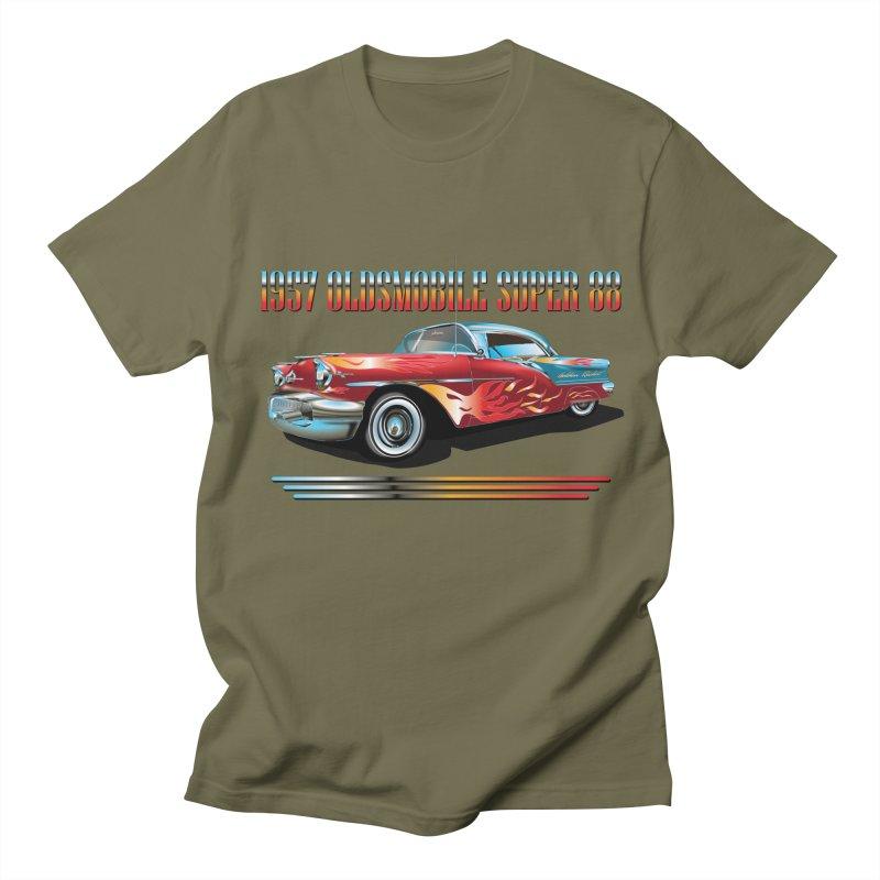 1957OLDSMOBILE SUPER 88 Women's Regular Unisex T-Shirt by karmadesigner's Tee Shirt Shop