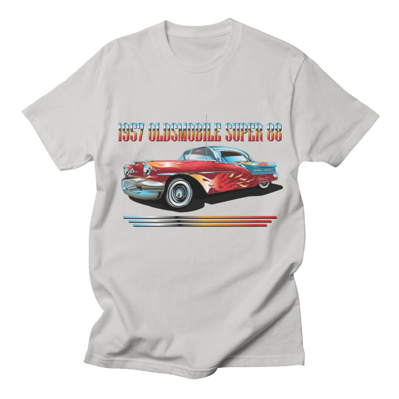 1957OLDSMOBILE SUPER 88 Women's Regular Unisex T-Shirt by karmadesigner's Tee Shirt Shop