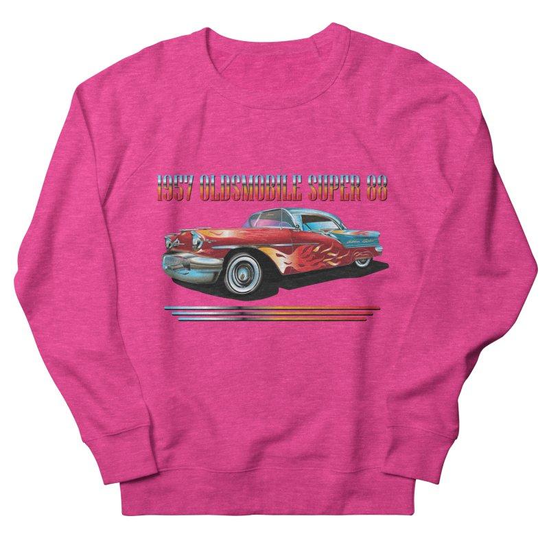 1957OLDSMOBILE SUPER 88 Women's French Terry Sweatshirt by karmadesigner's Tee Shirt Shop