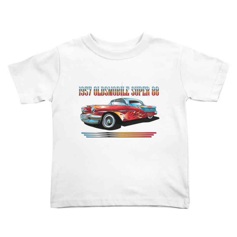 1957OLDSMOBILE SUPER 88 Kids Toddler T-Shirt by karmadesigner's Tee Shirt Shop
