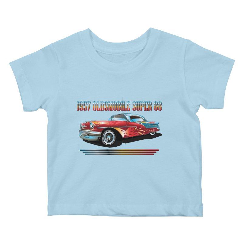 1957OLDSMOBILE SUPER 88 Kids Baby T-Shirt by karmadesigner's Tee Shirt Shop