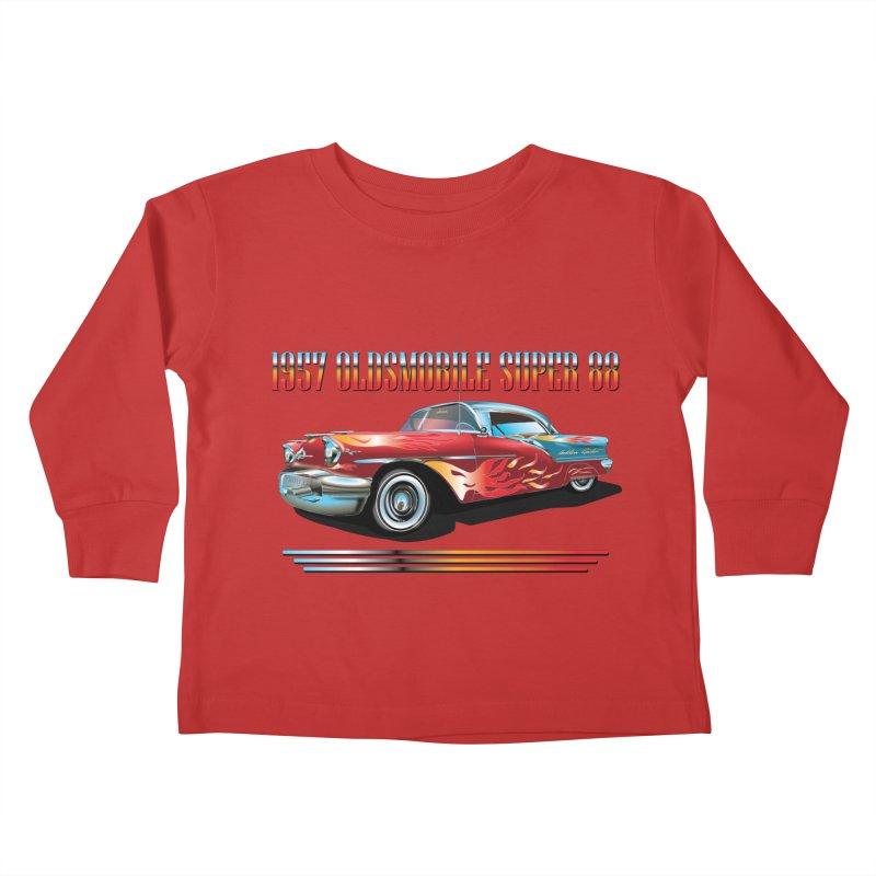 1957OLDSMOBILE SUPER 88 Kids Toddler Longsleeve T-Shirt by karmadesigner's Tee Shirt Shop