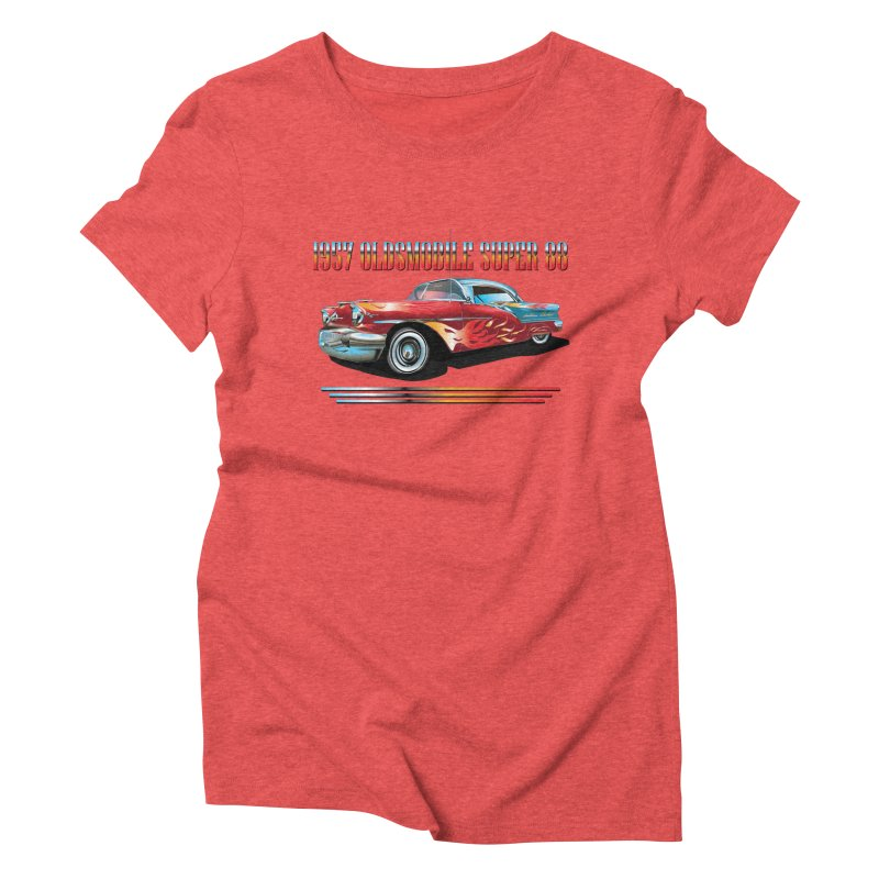 1957OLDSMOBILE SUPER 88 Women's Triblend T-Shirt by karmadesigner's Tee Shirt Shop