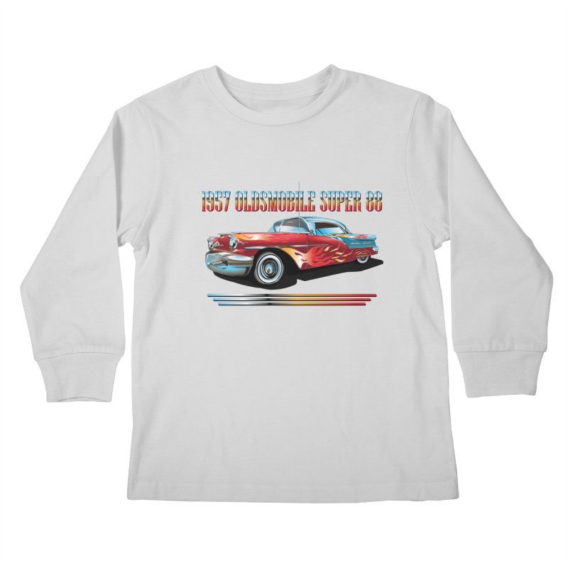 1957OLDSMOBILE SUPER 88 Kids Longsleeve T-Shirt by karmadesigner's Tee Shirt Shop