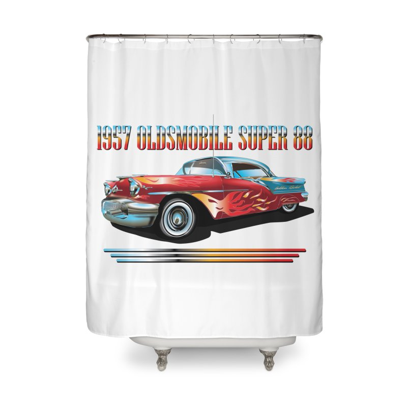 1957OLDSMOBILE SUPER 88 Home Shower Curtain by karmadesigner's Tee Shirt Shop