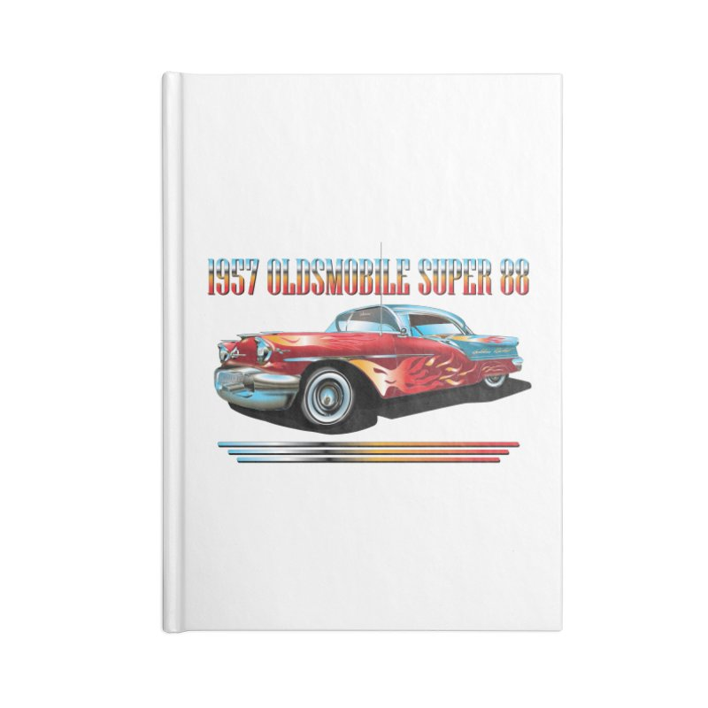 1957OLDSMOBILE SUPER 88 Accessories Notebook by karmadesigner's Tee Shirt Shop