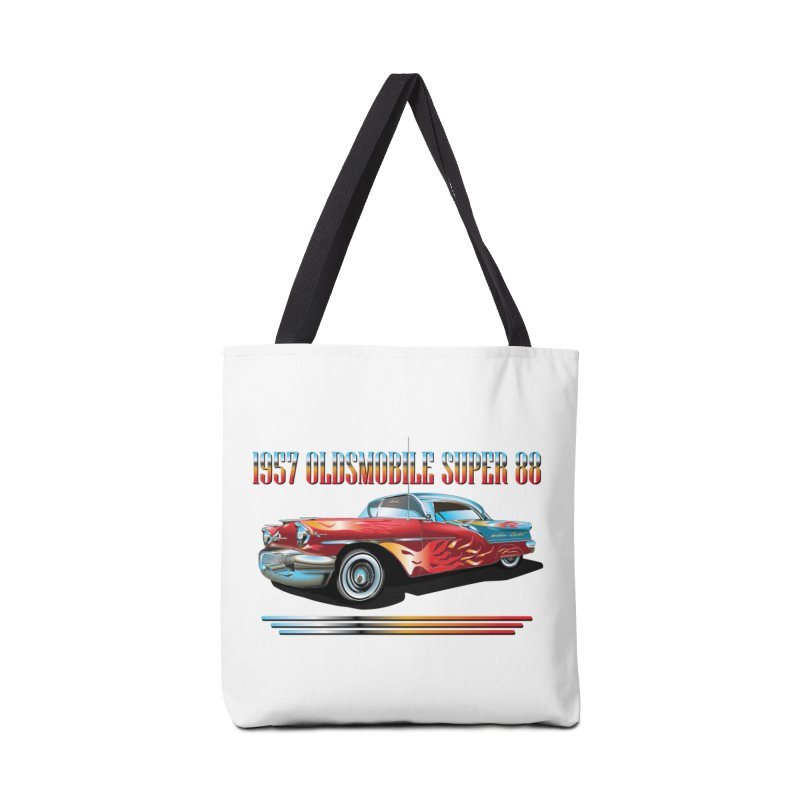 1957OLDSMOBILE SUPER 88 Accessories Tote Bag Bag by karmadesigner's Tee Shirt Shop