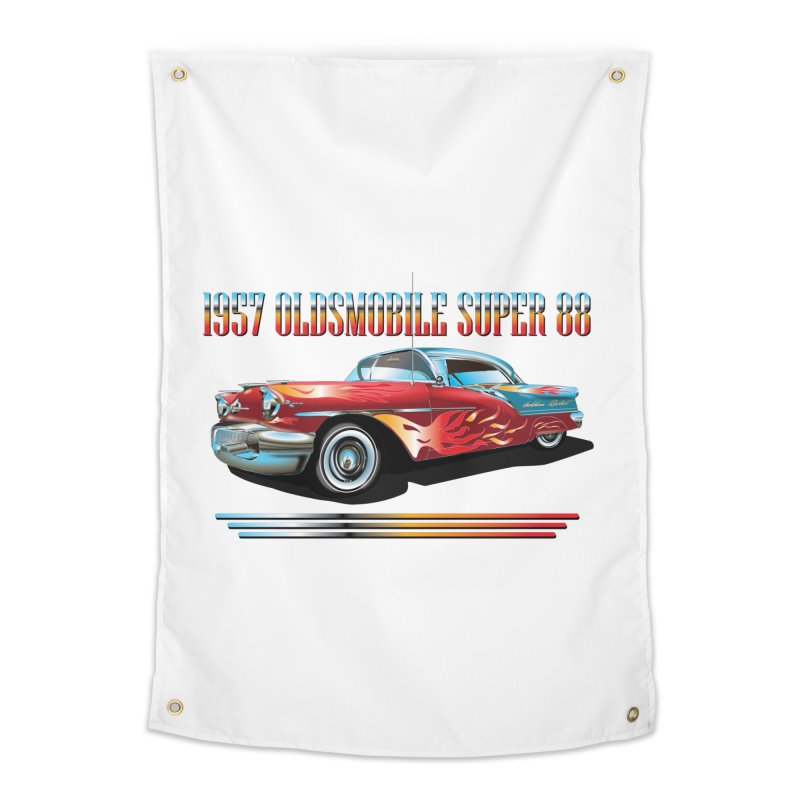 1957OLDSMOBILE SUPER 88 Home Tapestry by karmadesigner's Tee Shirt Shop