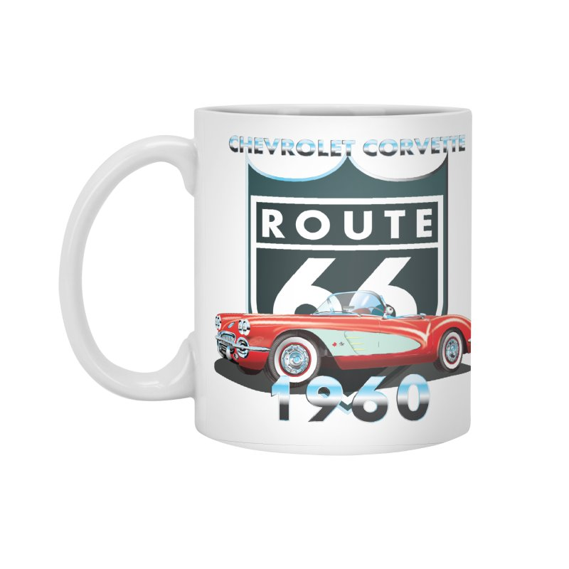 CHEVROLET CORVETTE 1960 Accessories Standard Mug by karmadesigner's Tee Shirt Shop
