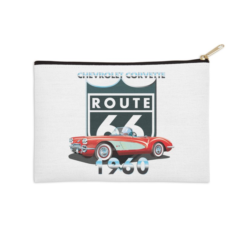 CHEVROLET CORVETTE 1960 Accessories Zip Pouch by karmadesigner's Tee Shirt Shop