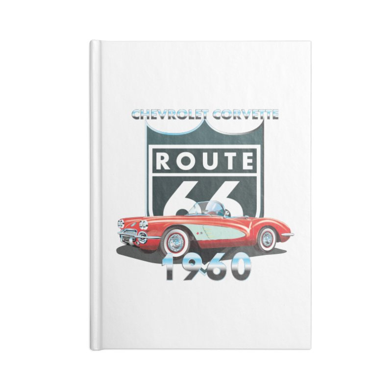 CHEVROLET CORVETTE 1960 Accessories Lined Journal Notebook by karmadesigner's Tee Shirt Shop