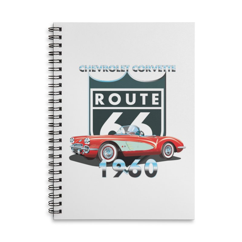 CHEVROLET CORVETTE 1960 Accessories Lined Spiral Notebook by karmadesigner's Tee Shirt Shop