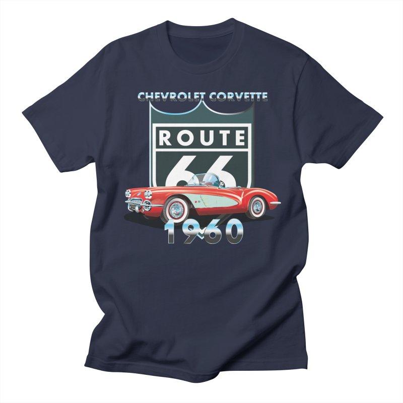 CHEVROLET CORVETTE 1960 Women's Regular Unisex T-Shirt by karmadesigner's Tee Shirt Shop