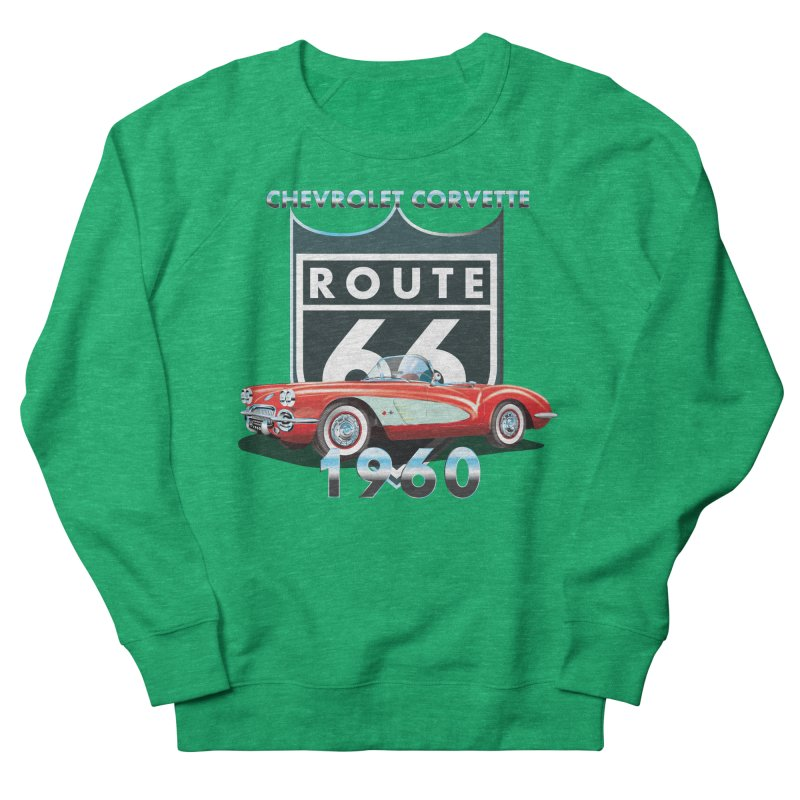 CHEVROLET CORVETTE 1960 Women's Sweatshirt by karmadesigner's Tee Shirt Shop