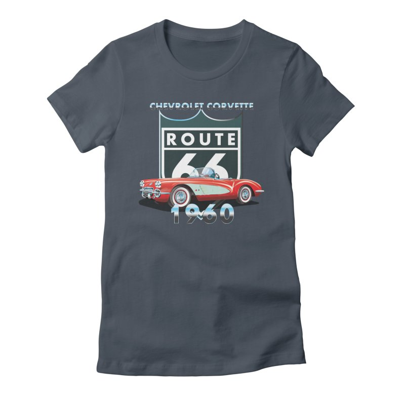 CHEVROLET CORVETTE 1960 Women's T-Shirt by karmadesigner's Tee Shirt Shop