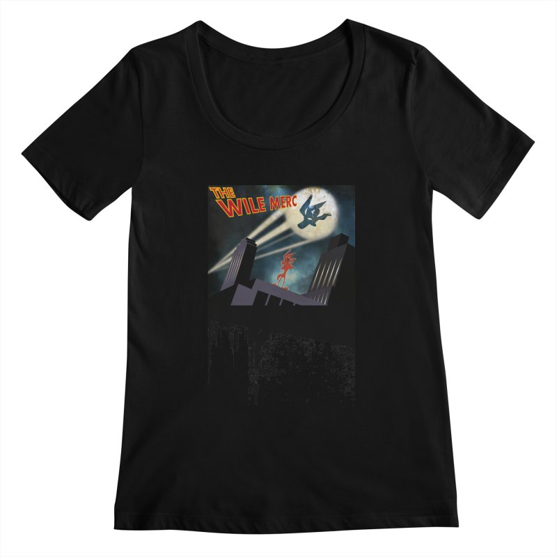 THE WILE MERC  Women's Scoopneck by karmadesigner's Tee Shirt Shop