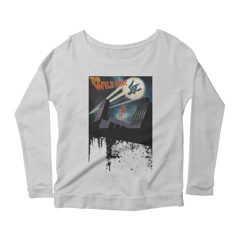 THE WILE MERC  Women's Longsleeve Scoopneck  by karmadesigner's Tee Shirt Shop