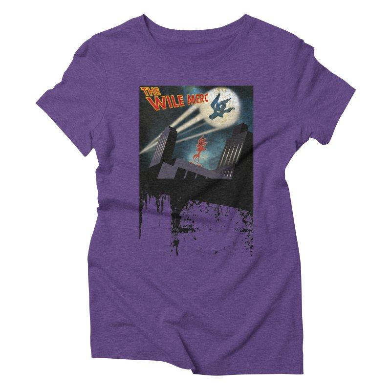 THE WILE MERC  Women's Triblend T-shirt by karmadesigner's Tee Shirt Shop