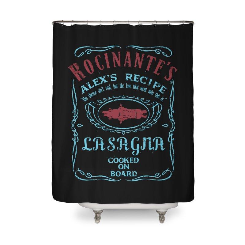 ROCINANTE'S ALEX LASAGNA Home Shower Curtain by karmadesigner's Tee Shirt Shop