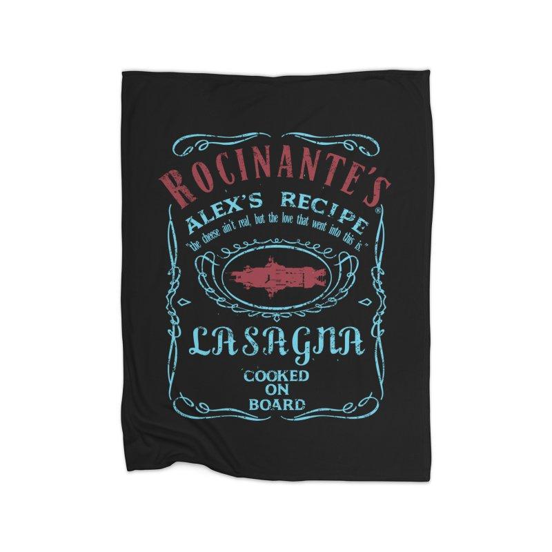 ROCINANTE'S ALEX LASAGNA Home Fleece Blanket Blanket by karmadesigner's Tee Shirt Shop