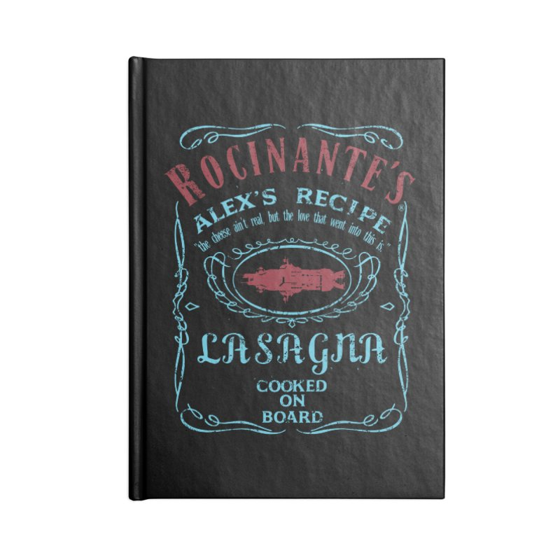 ROCINANTE'S ALEX LASAGNA Accessories Lined Journal Notebook by karmadesigner's Tee Shirt Shop