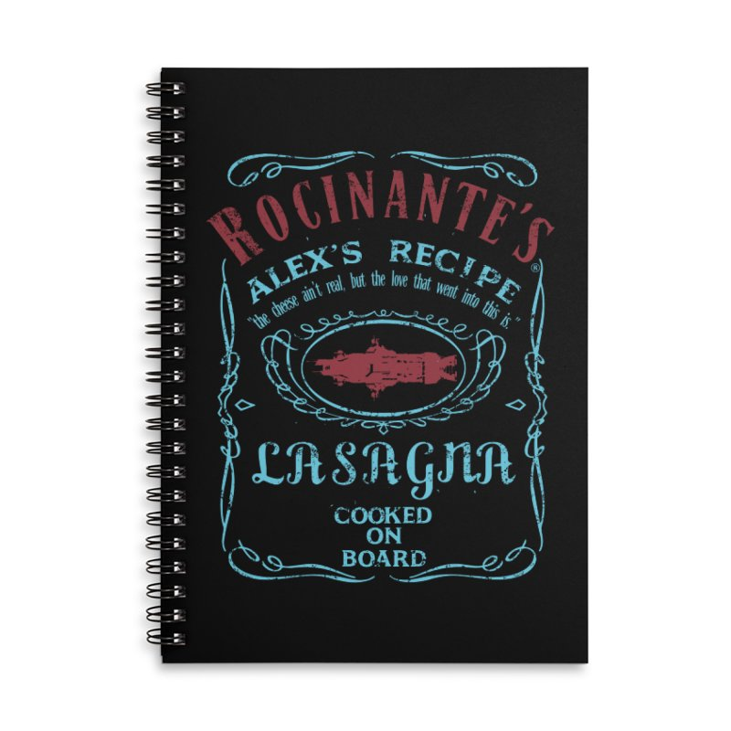 ROCINANTE'S ALEX LASAGNA Accessories Lined Spiral Notebook by karmadesigner's Tee Shirt Shop