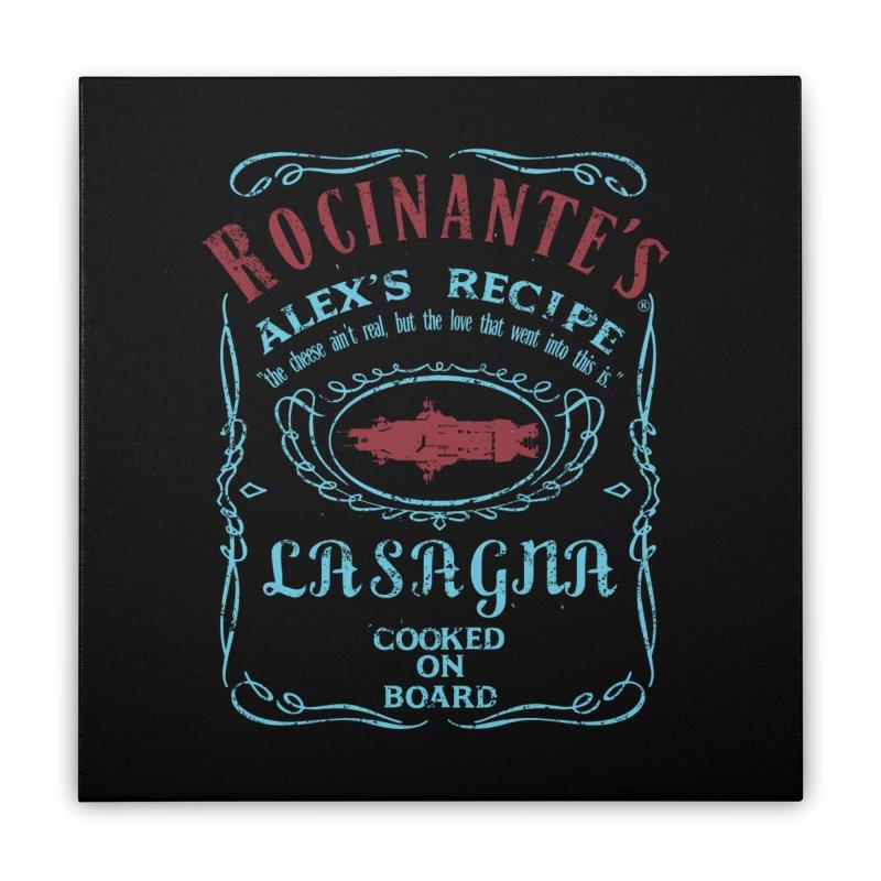 ROCINANTE'S ALEX LASAGNA Home Stretched Canvas by karmadesigner's Tee Shirt Shop