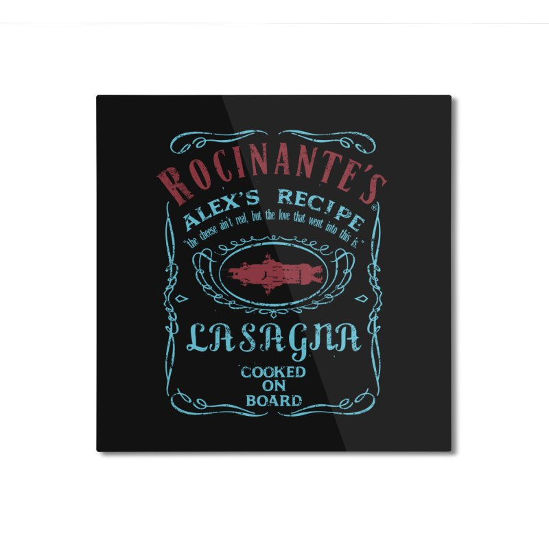 ROCINANTE'S ALEX LASAGNA Home Mounted Aluminum Print by karmadesigner's Tee Shirt Shop