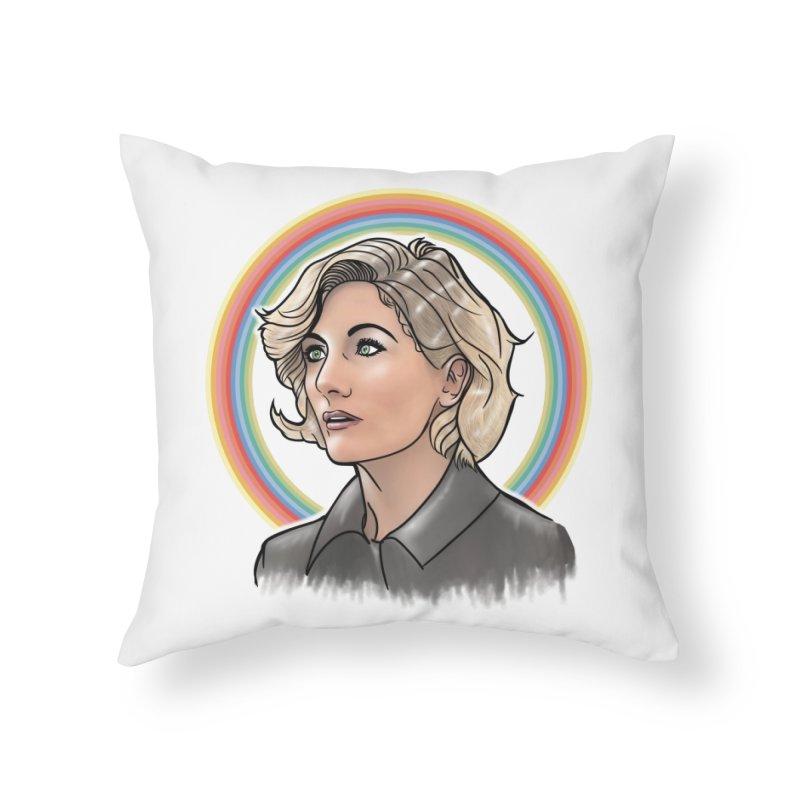 DON'T PANIC! Home Throw Pillow by karmadesigner's Tee Shirt Shop