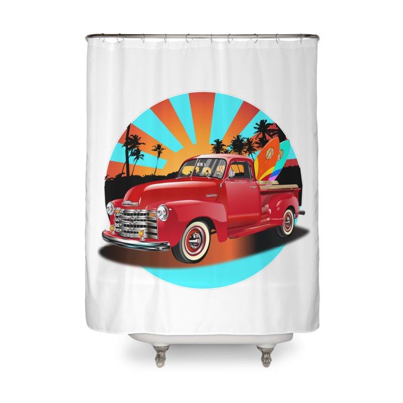 WORLD WILD WAVE Home Shower Curtain by karmadesigner's Tee Shirt Shop
