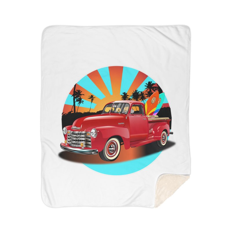 WORLD WILD WAVE Home Sherpa Blanket Blanket by karmadesigner's Tee Shirt Shop
