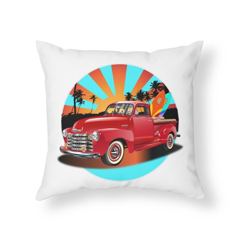 WORLD WILD WAVE Home Throw Pillow by karmadesigner's Tee Shirt Shop