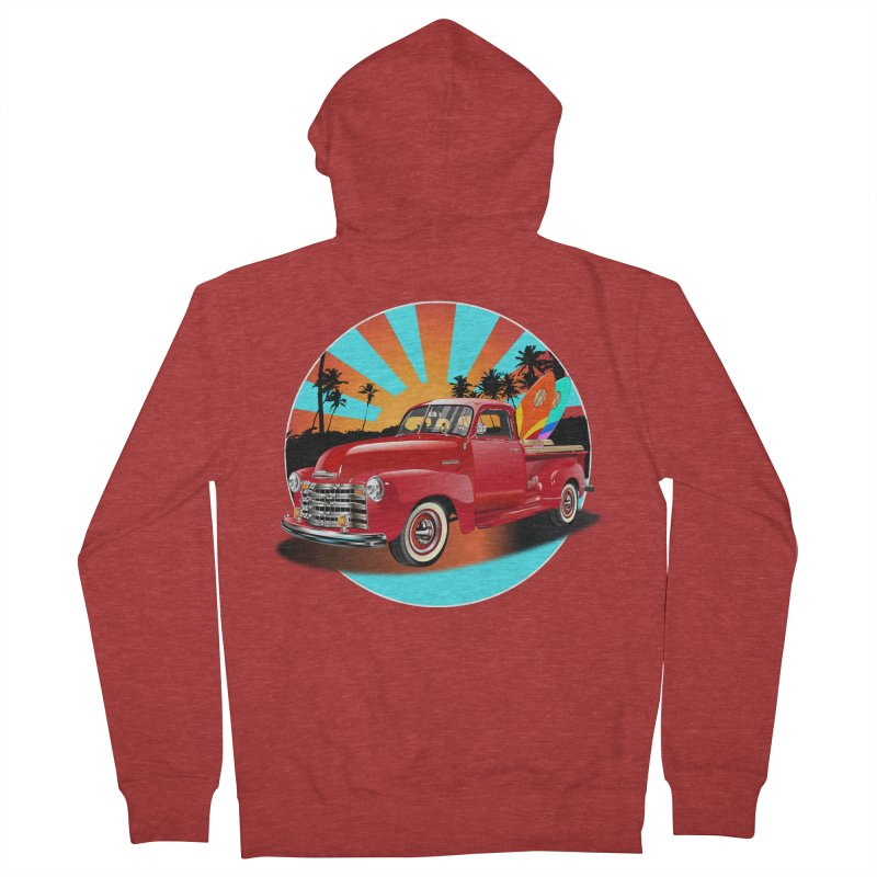 WORLD WILD WAVE Men's French Terry Zip-Up Hoody by karmadesigner's Tee Shirt Shop